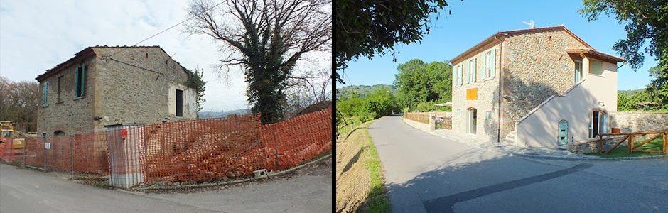 Progettazione osteria ad Arezzo, prima e dopo
